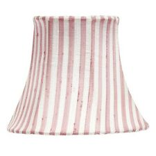 Pink and White Striped Chandelier and Sconce Clip-On Silk Shade 2419