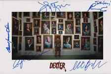 "DEXTER Cast(x5) Authentic Hand-Signed ""Michael C.Hall"" Masterpiece 11x17 (PROOF)"