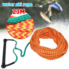 23m EVA Grip Water Ski Wakeboard Rope Ski Kneeboard Slalom Trainer Line NEW
