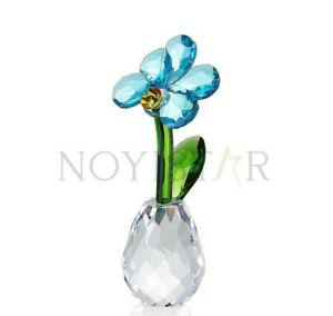 NOYISTAR K9 Crystal Blue Butterfly Orchid Figurine Glass Paperweight Gift