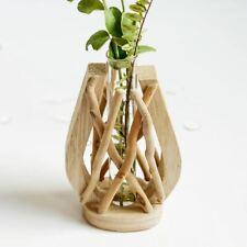 Drifwoo  Hydroponic Plants Vase, Wooden Vase Holder, Driftwood Vases for Plants