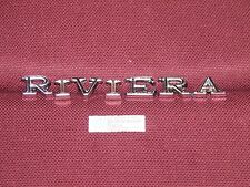 68 69  BUICK RIVIERA FRONT FENDER LETTERS NEW 1968 1969 BADGE TRIM ORNAMENT