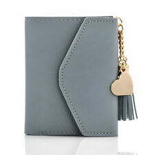 Women Leather Mini Tassel Wallet Card Holder Clutch Coin Purse Handbag Purse