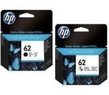 2 cartuchos de tinta original HP 62 negro/tricolor