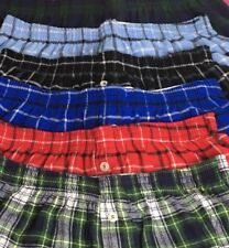 Lot of 6 Pair Flannel Sleep Shorts Womens S Small Plaid Pajama Boxer Lounge New