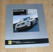 Renault Sport Megane 225 Trophy Special Edition Brochure 2005