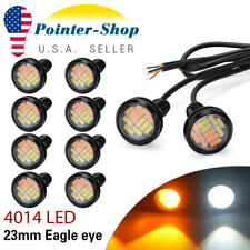 10X 4014 12 LED Eagle Eye Amber&White Switchback Lamp Daytime Running Light