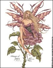Amy Brown Sticker Decal Fairy Faery Whispers Of Spring Pink Rose Flowr Garden