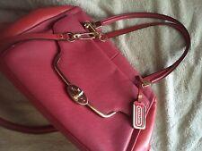 COACH Madison Saffiano Madeline EW Satchel Handbag Purse Pink Fuschia 25162