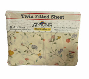 Vintage Twin Fitted Sheet Montgomery Ward At Home Country Charm Amanda Floral