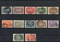 DR - Inflation 1922/23 - Satz - Ziffern - Querformat - Gestempelt