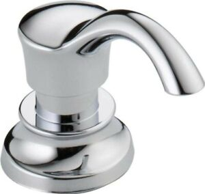 """Delta RP71543 Cassidy 3-1/2"""" Soap / Lotion Dispenser and Bottle"""