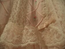 Vintage Barbizon Womens Pink Nightgown Gown Lace Accent D. Edie Small Cotton Bl