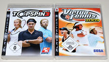 2 PLAYSTATION 3 SPIELE SET - TOP SPIN 3 & VIRTUA TENNIS 2009 - PS3