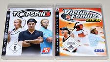2 PLAYSTATION 3 giochi Set-Top Spin 3 & Virtua Tennis 2009-ps3