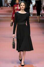 New Dolce & Gabbana Fit and Flare Open Back Midi Dress - Sz 36 IT
