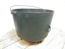 Antique Cast Iron footed Bean Pot Cooking Kettle – Stamped Number 8