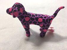 "Victoria's Secret Pink Purple Leopard Polka Dot Puppy Dog Plush Mini 6"""