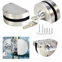 12mm Glass Door Lock Durable 304 Stainless Steel Double Bolts Swing Push Sliding