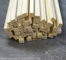 """A14 BALSA legno STRISCIA 3/16 x 1/4 - 5mm x 6,5 mm Lunghezza 12 """"Confezione da 45"""