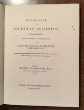1848 - Journal Of Nicholas Assheton Of Downham, Lancaster.