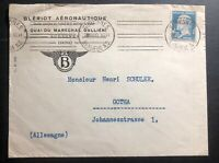 1930 Suresnes France Aeronautic Commercial cover To Gotha Germany Perfin Stamp