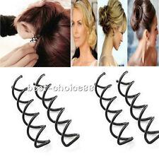 Womens 5Pcs Spiral Screw Pin Hair Clip Twist Barrette Tool Kits Hair Accessories