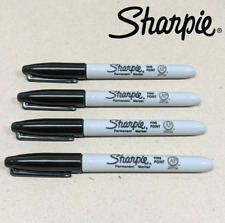 4 x Sharpie Permanent Marker Bullet Point 1.0mm Fine Black 30001