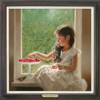 """Original Oil Painting female art Small  girl on canvas 30""""x30"""""""