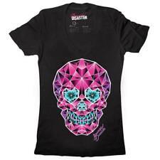 Beautiful Disaster Crystal Skull T-shirt Black S/8 BNWT