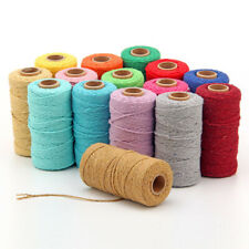 Woven 100 Yards String Cotton Rope Macrame Cord Braided Twisted DIY Crafts