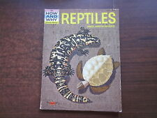 THE HOW & WHY WONDER BOOK OF REPTILES AMPHIBIANS Vintage 1960 SNAKES, TURTLES