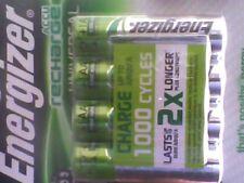 2x4 Energizer Universel 1300 mAh rechargeable AA = Nouveau Scellé Envoi Gratuit