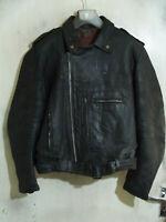 Vintage Distressed 60's Aviakit Lewis Leathers Bronx Leather Jacket Size XL