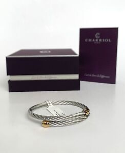 Charriol * Bangle Celtic Sceau Silver & Gold PVD Stainless Steel 04-104-00144-1S