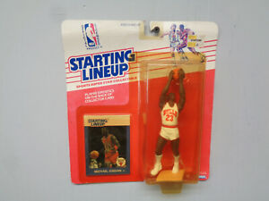 1988 Kenner Starting Lineup Michael Jordan Chicago Bulls with MINT ROOKIE CARD