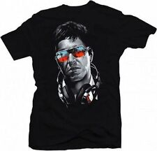 Scarface Dj Tony Music Headphones Sunglasses Drug Lord Gangster T Shirt Large