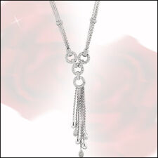 1.10 Carat Natural Diamond Necklace by Designer  14K White Gold