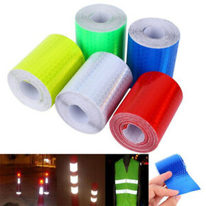 1m*5cm Car Truck Reflective Self-adhesive Safety Warning Tape Roll Film StickerY