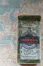 Bartholomew's Reduced Survey Map Of Cornwall On Cloth circa 1923
