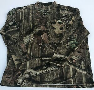 RUSSELL DRI-POWER Shirt Men's 2XL RealTree Mossy Oak Long Sleeve Hunting Shirt