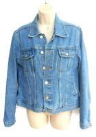 Tommy Hilfiger Womens Size Large Blue Jean Jacket Denim