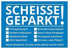 Notizblock Scheisse Geparkt Windschutzscheibe 50 Blatt Geschenkidee Falschparker