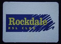 Rockdale RSL Sub-Branch Club 45 Bay St NSW 0295672720 Notes Coaster (B11)