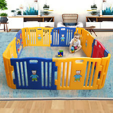 12 Panels Baby Playpen Toddler Safety Adjustable Fence Infant Play Center Yard