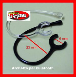 2 Clip per auricolare Bluetooth ricambio gancio orecchio archetto 6 mm