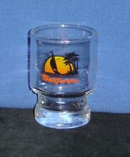 California with Sail Boat in Sunset on 2oz Glass Shot Glass - NEW
