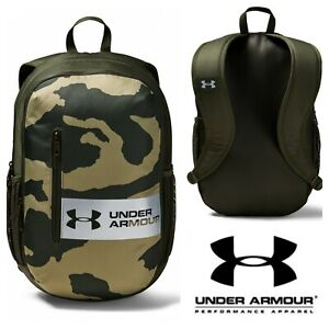 Under Armour Camo Backpack Gym School Bag Sports Storm Rucksack Laptop NEW