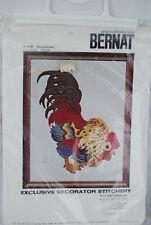 Vintage Bernat Rooster Royal Bantam Needlecraft Kit S 9100 - NIP