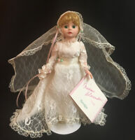"""Madame Alexander 20's Bride, 10"""" Nostalgia Collection #14103 with Tag & Stand"""